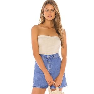 Free People | NWOT Ivory You Too Tube Top